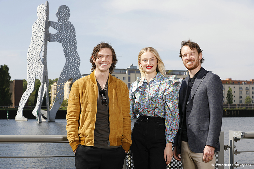 X-Men: Dark Phoenix: Michael Fassbender, Sophie Turner, Evan Peters in Berlin!!